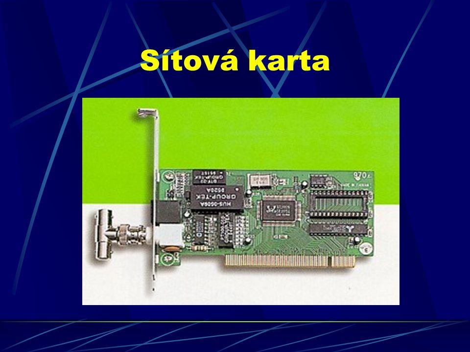 Topologie sítí - způsob propojení jednotlivých PC pomocí kabelů -> vytvoření sítě SBĚRNICOVÁ TOPOLOGIE - je poloduplexní, tzn.