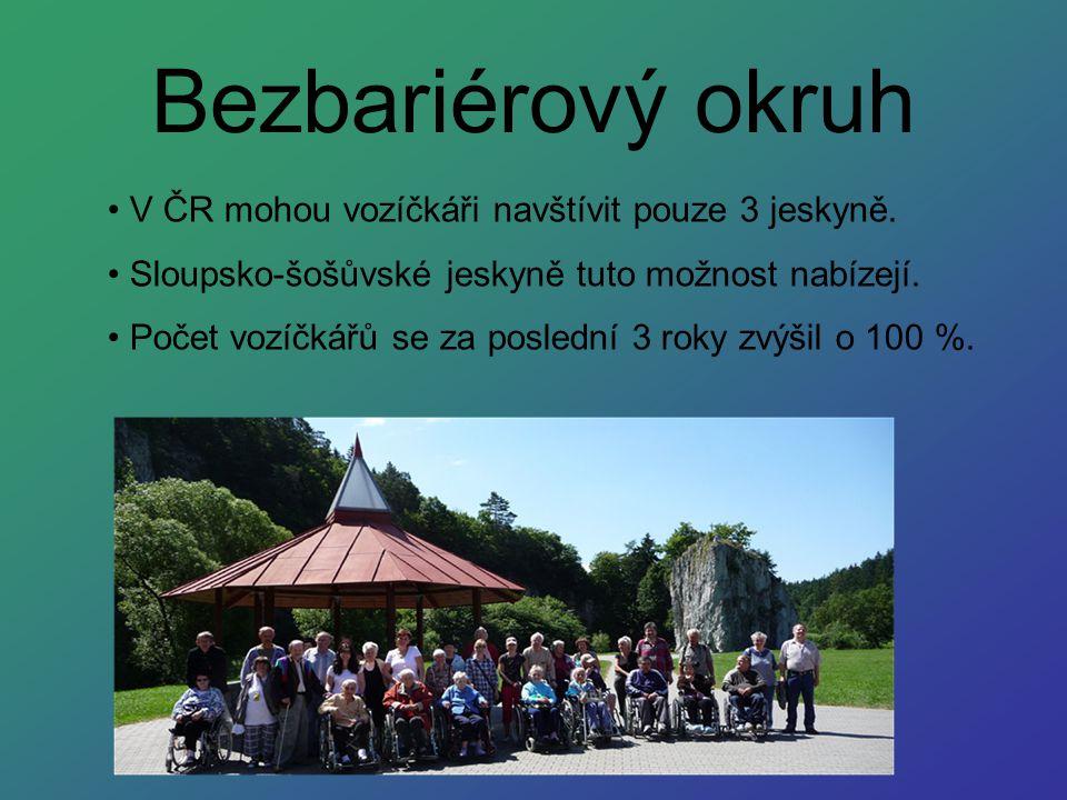 Bezbariérový okruh V ČR mohou vozíčkáři navštívit pouze 3 jeskyně. Sloupsko-šošůvské jeskyně tuto možnost nabízejí. Počet vozíčkářů se za poslední 3 r