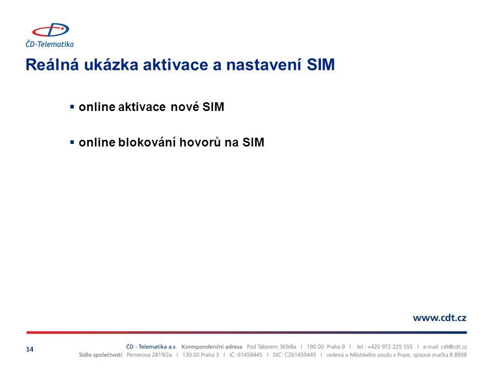 Reálná ukázka aktivace a nastavení SIM 14  online aktivace nové SIM  online blokování hovorů na SIM