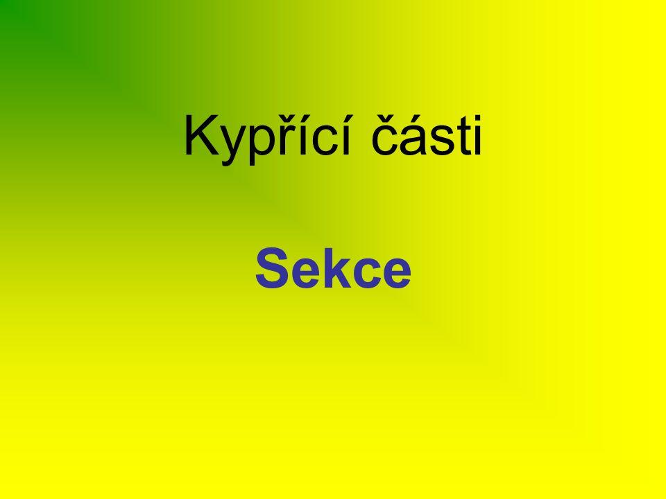 Kypřící části Sekce