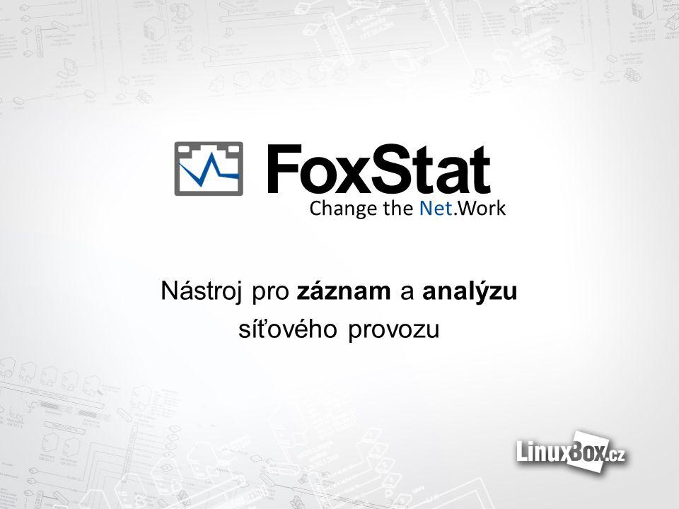 Nástroj pro záznam a analýzu síťového provozu FoxStat Change the Net.Work