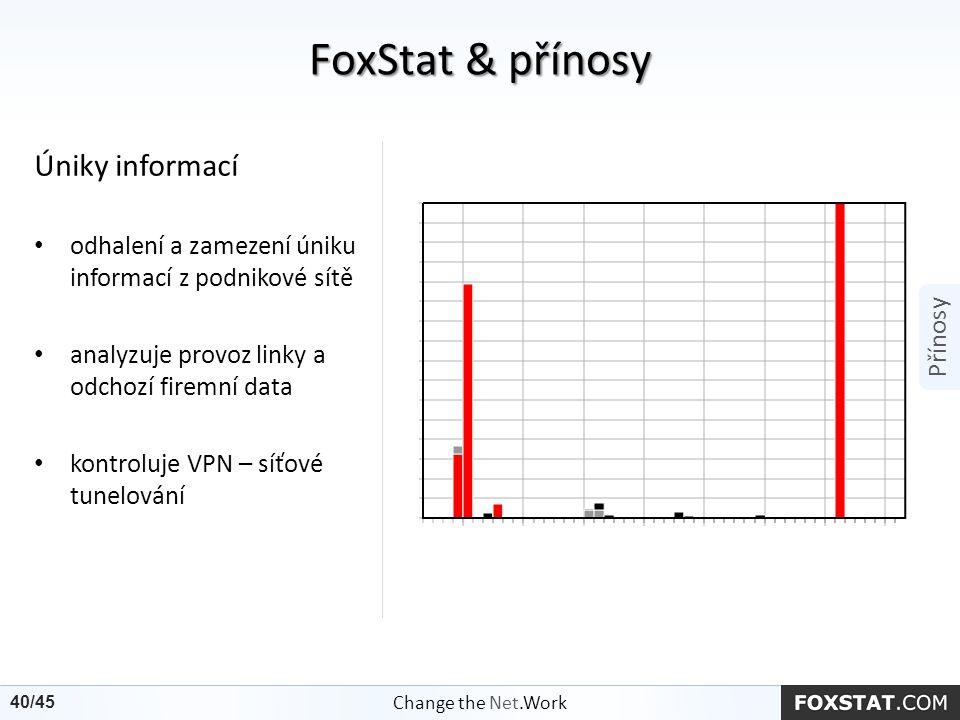 Úniky informací odhalení a zamezení úniku informací z podnikové sítě analyzuje provoz linky a odchozí firemní data kontroluje VPN – síťové tunelování