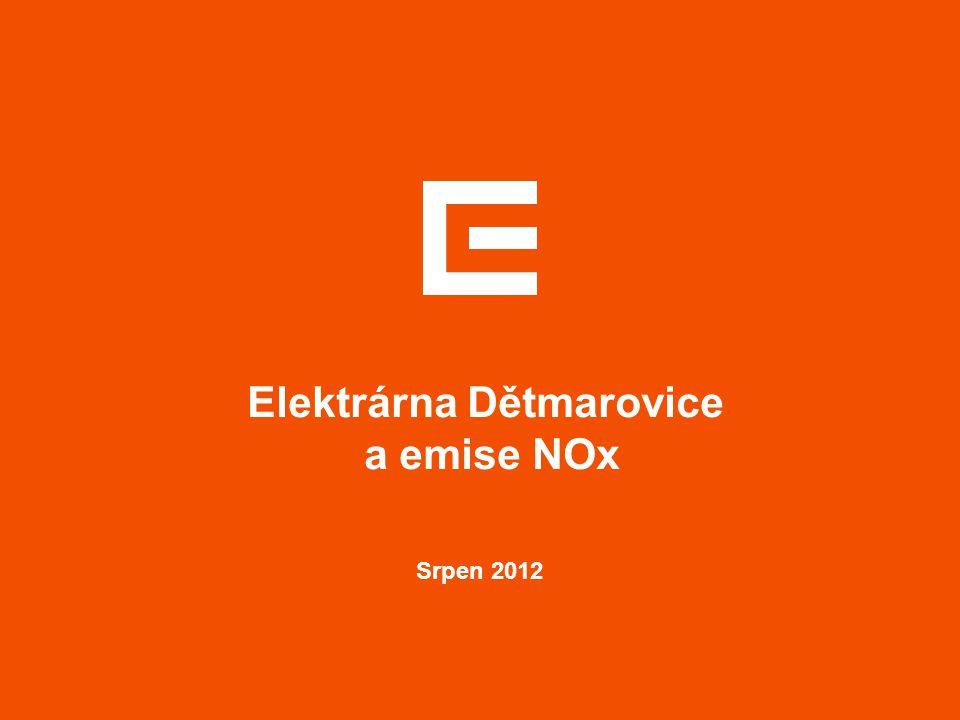 Srpen 2012 Elektrárna Dětmarovice a emise NOx
