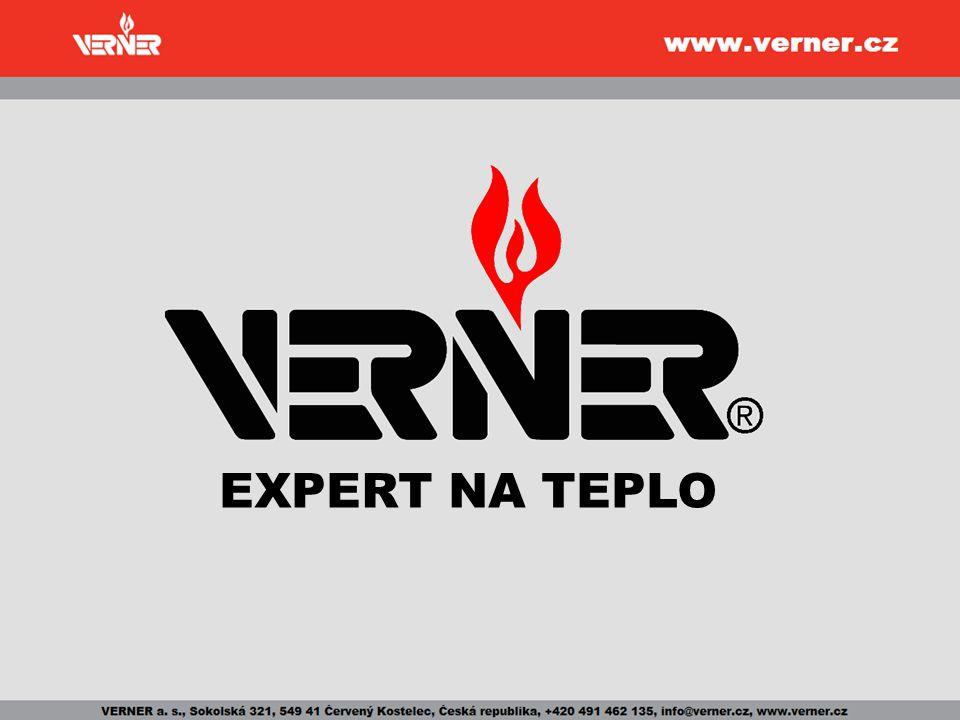 Společnost VERNER přední český výrobce kotlů na biomasu vlastní konstrukce a vývoj 16 let na trhu moderní výroba EN ISO 9001:2001 hlavní trhy: Evropa + U.S.A.