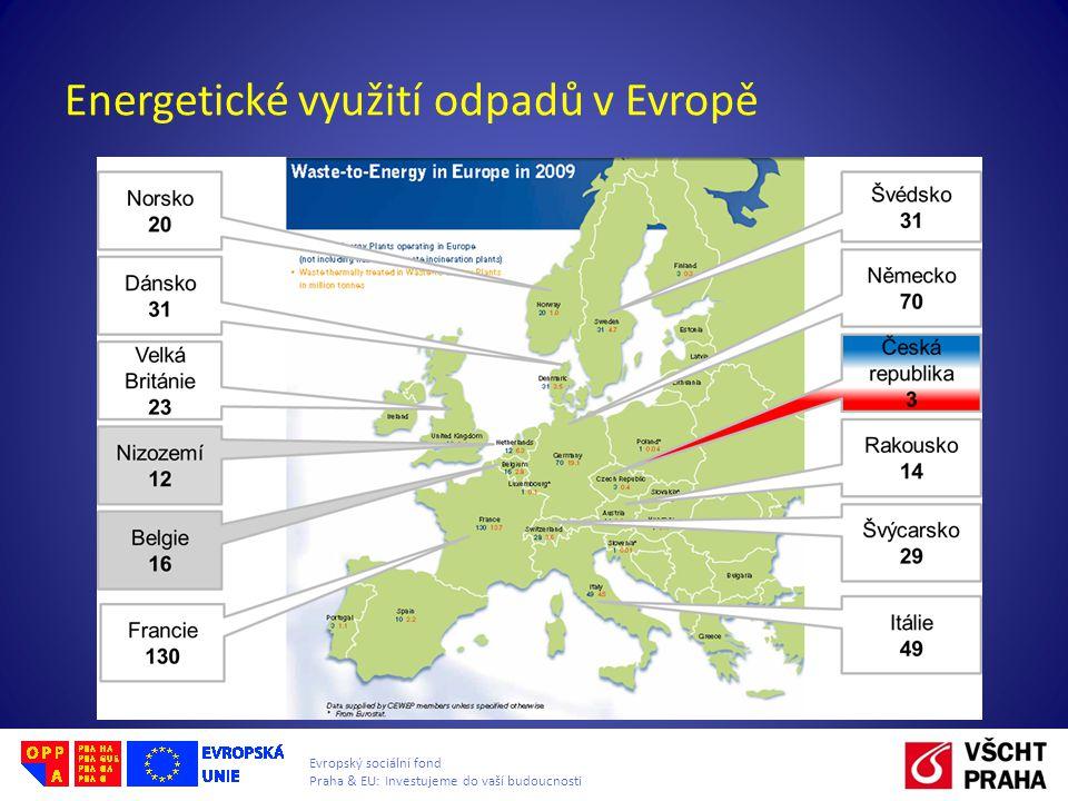 Evropský sociální fond Praha & EU: Investujeme do vaší budoucnosti Energetické využití odpadů v Evropě