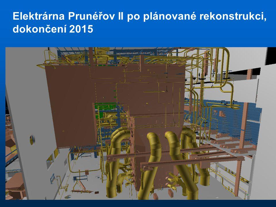 Elektrárna Prunéřov II po plánované rekonstrukci, dokončení 2015