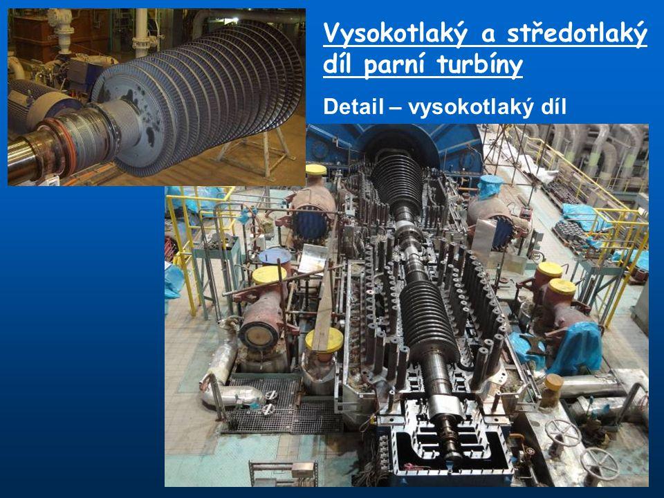 Vysokotlaký a středotlaký díl parní turbíny Detail – vysokotlaký díl