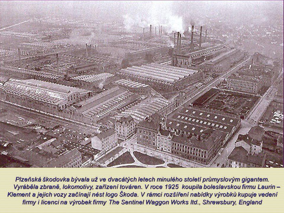 Plzeňská škodovka bývala už ve dvacátých letech minulého století průmyslovým gigantem.