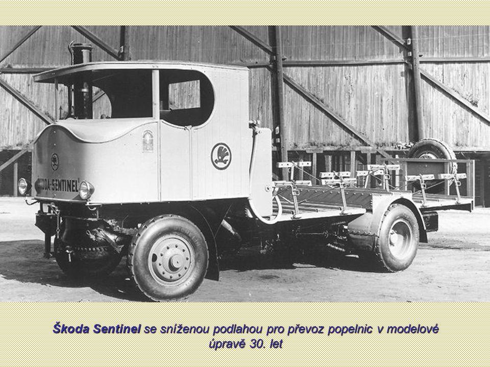 Parní vůz Škoda Sentinel s karosérií pro účely pivovarské (fotografie i text z dobového prospektu z roku 1925)