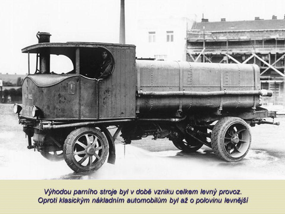 Výhodou parního stroje byl v době vzniku celkem levný provoz.