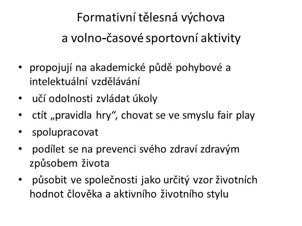 Sportovní aktivity zajišťuje v současnosti 46 vysokoškolských jednot a klubů České asociace universitního sportu (ČAUS) počet asi 30 tis.