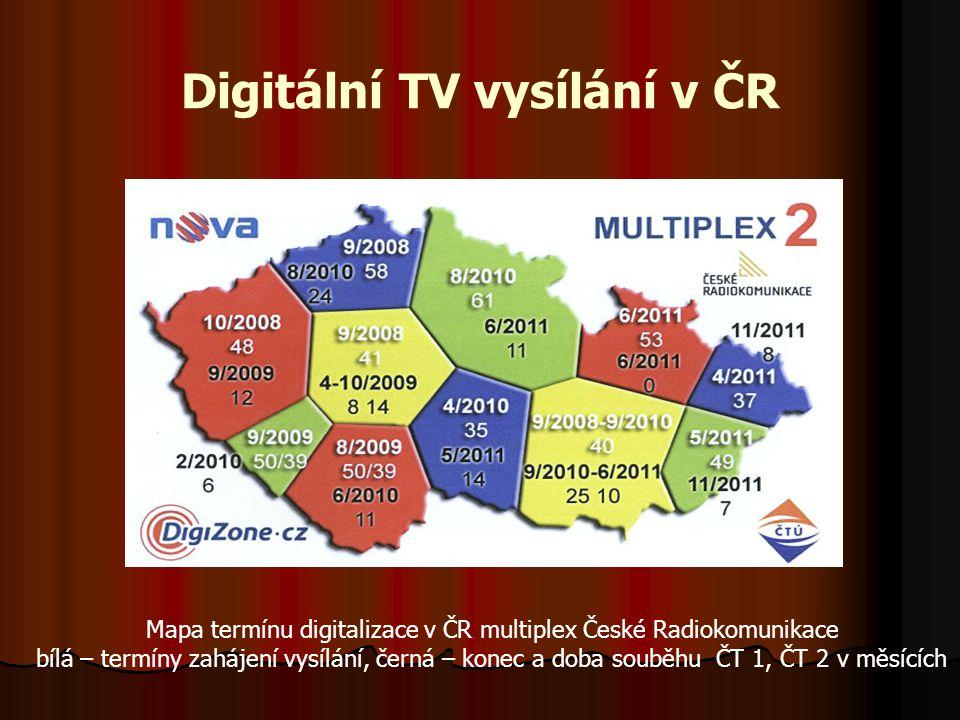 DVB-T přenos  Typy kódování dle Shannonova schématu  Zdrojové kódování – převedení analogového obrazu a zvuku do digitální formy (nekompri- movaný formát ITU R-601) využitím DPCM a komprimace využitím standartu MPEG tak, aby bylo možno signál přenášet v analogovém TV kanálu PAL, SECAM, NTSC  Kanálové kódování – zabezpečuje komprimovaný signál proti chybám  Modulace – využívá se více nosných v systému OFDM s modulacemi m-QAM, QPSK a.p.