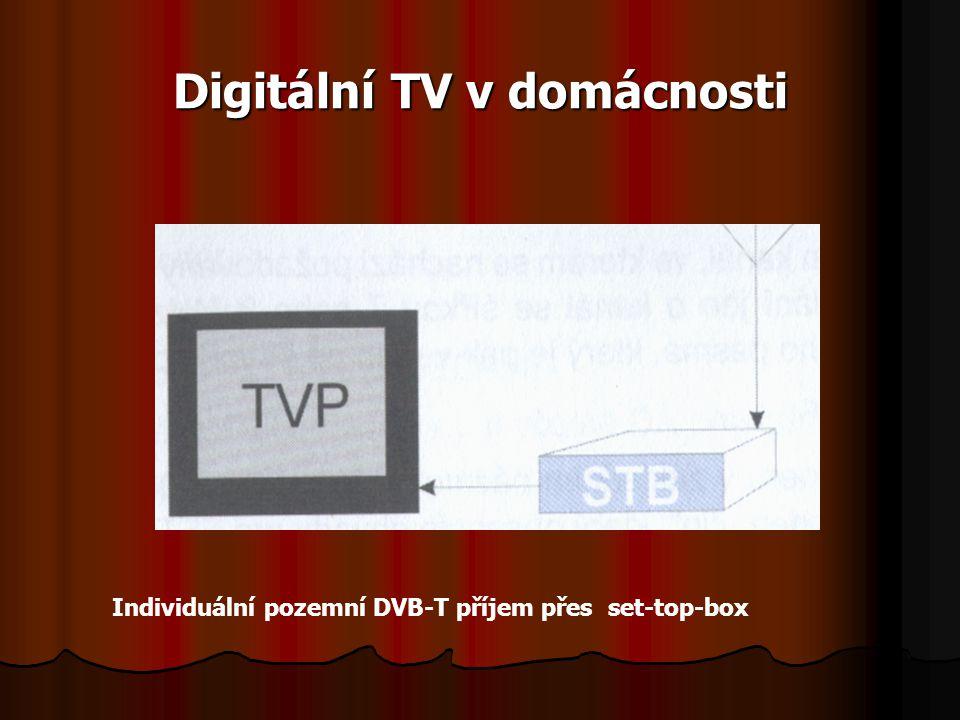 Digitální TV v domácnosti Individuální pozemní DVB-T příjem přes set-top-box
