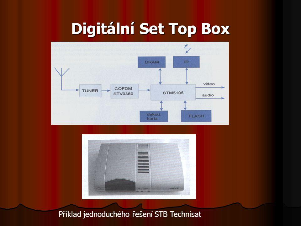 Digitální Set Top Box Příklad jednoduchého řešení STB Technisat