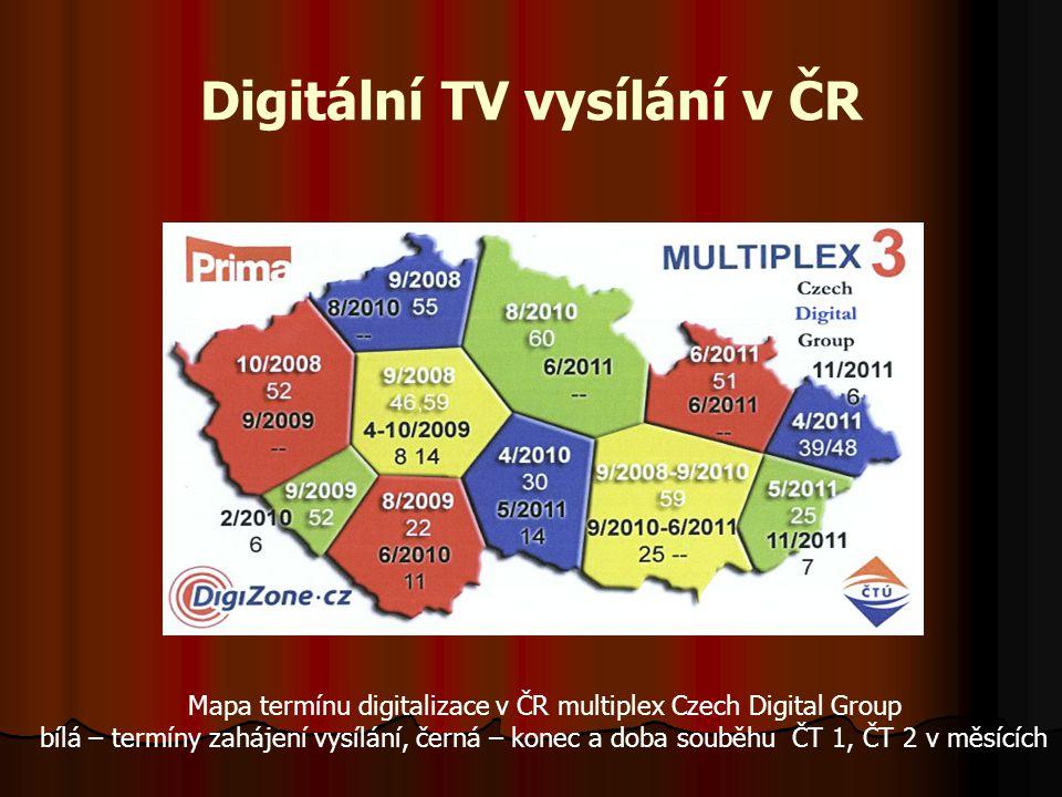 DVB–T přenos Vysílač pro multiplexování a komprimované zpracování digitálního TV