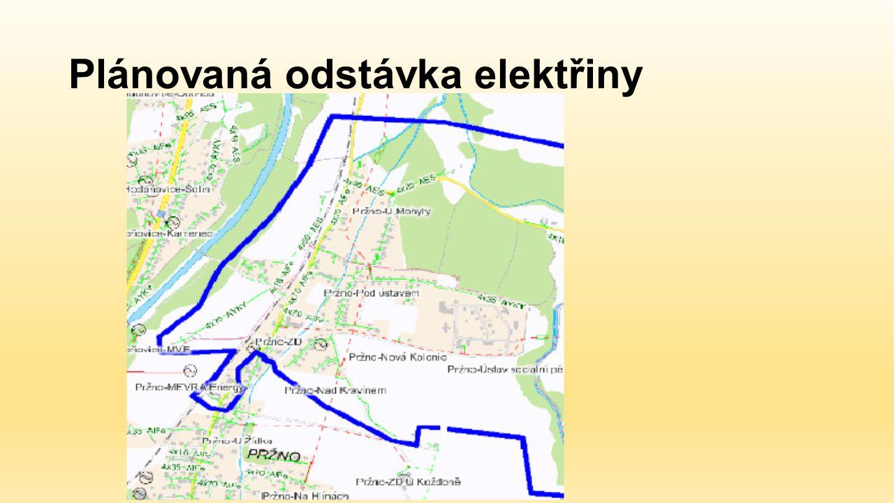 Plánovaná odstávka elektřiny