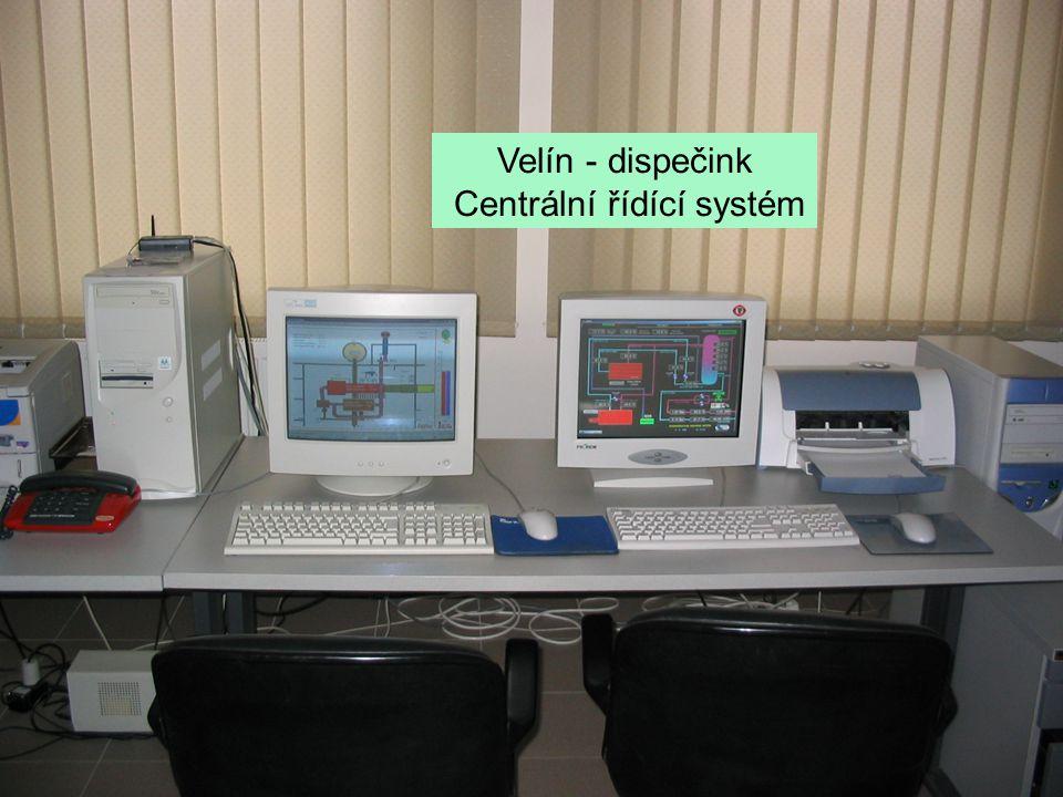 Velín - dispečink Centrální řídící systém