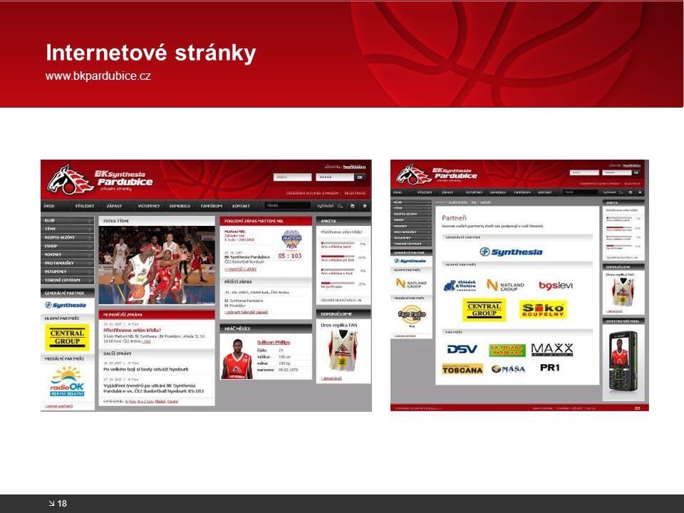 Internetové stránky www.bkpardubice.cz  18