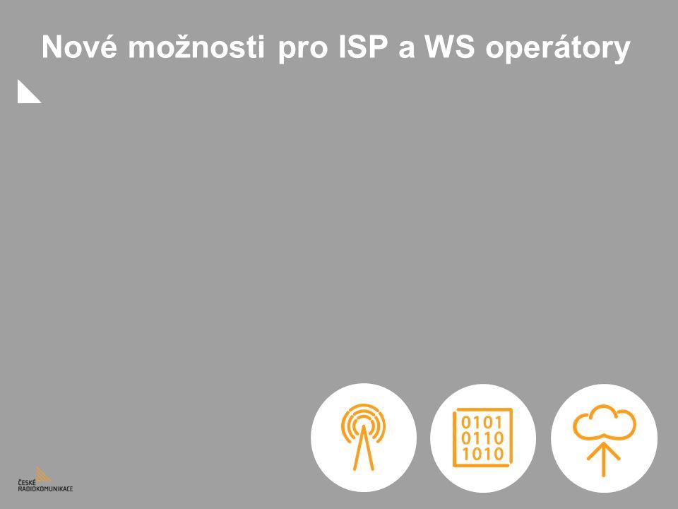 Nové možnosti pro ISP a WS operátory