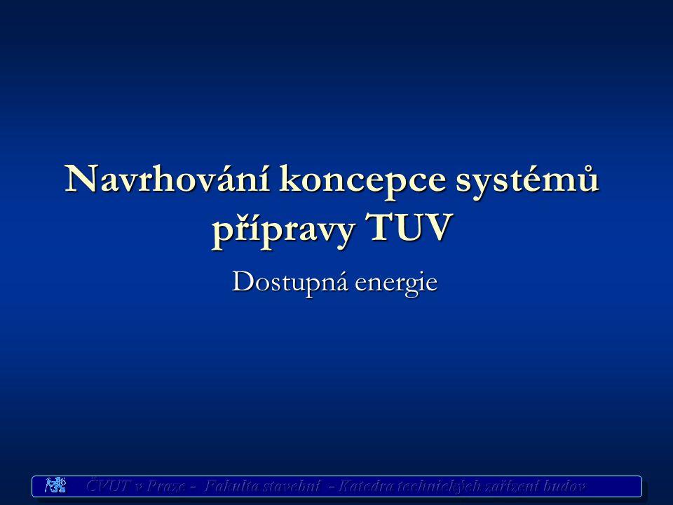 Příprava TUV Dispoziční řešení Na volbu systému TUV má vliv umístění odběrních míst Na volbu systému TUV má vliv umístění odběrních míst soustředěné s