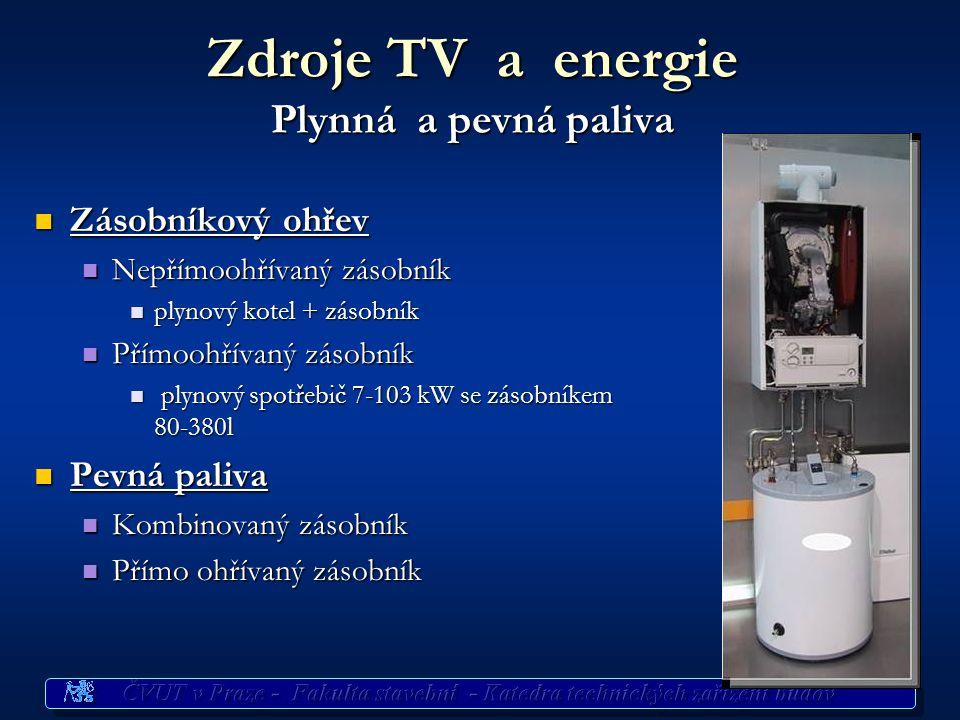 Zdroje TV a energie Plynná paliva Průtokový ohřev Průtokový ohřev Průtokový ohřívač Průtokový ohřívač do 28 kW (14 l/min), do 28 kW (14 l/min), požada
