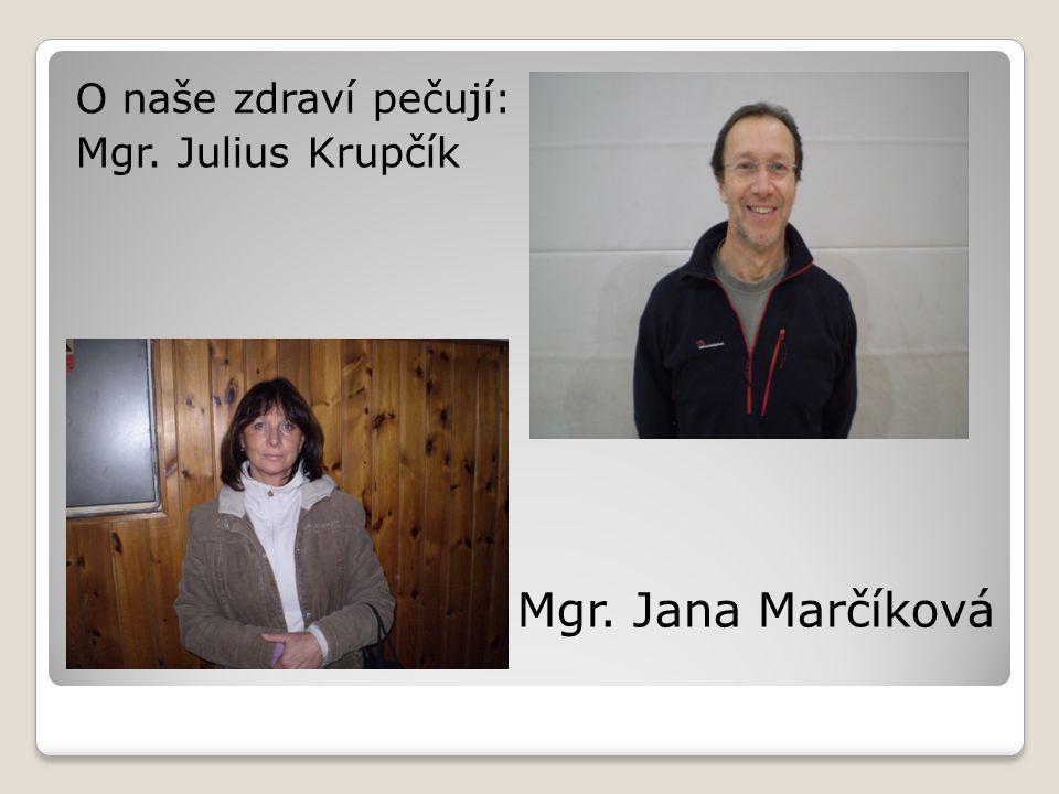 Mgr. Jana Marčíková O naše zdraví pečují: Mgr. Julius Krupčík