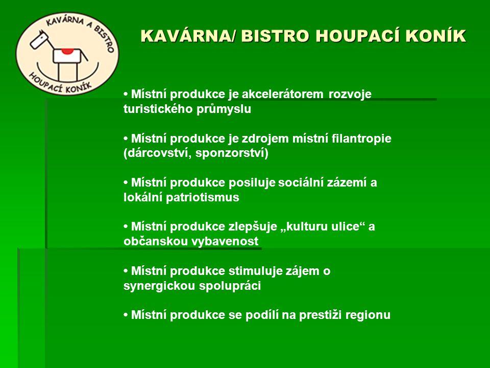 KAVÁRNA/ BISTRO HOUPACÍ KONÍK KAVÁRNA/ BISTRO HOUPACÍ KONÍK Místní produkce je akcelerátorem rozvoje turistického průmyslu Místní produkce je zdrojem