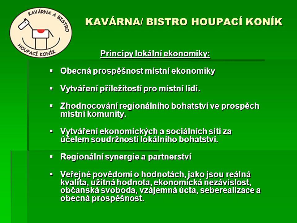 KAVÁRNA/ BISTRO HOUPACÍ KONÍK KAVÁRNA/ BISTRO HOUPACÍ KONÍK Principy lokální ekonomiky:  Obecná prospěšnost místní ekonomiky  Vytváření příležitostí