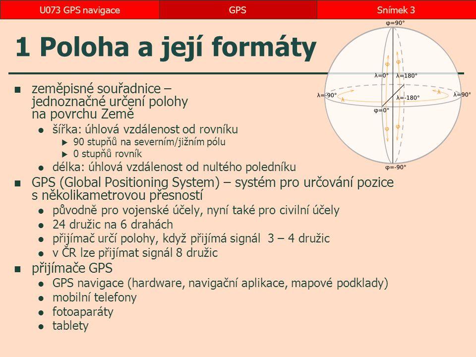 Výběr pokladu GPSSnímek 24U073 GPS navigace