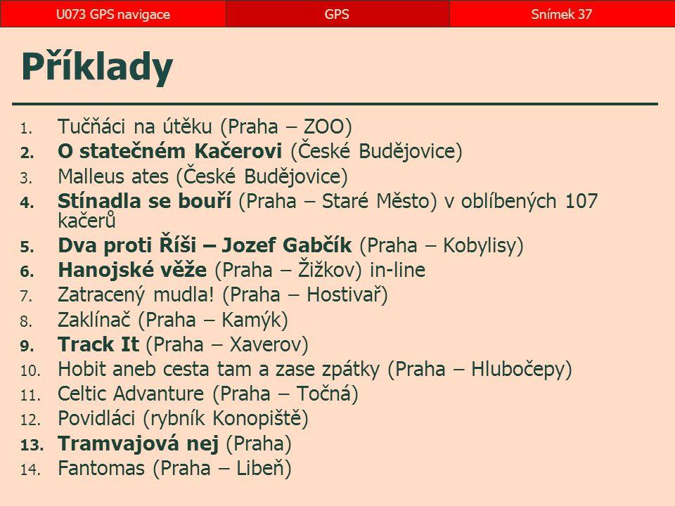 Příklady 1.Tučňáci na útěku (Praha – ZOO) 2. O statečném Kačerovi (České Budějovice) 3.