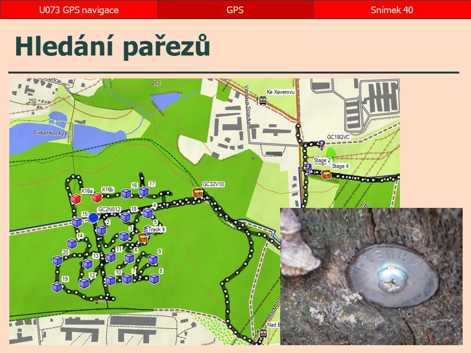 Hledání pařezů GPSSnímek 40U073 GPS navigace