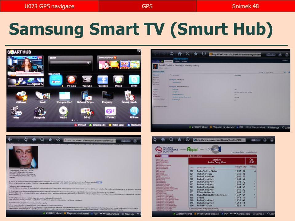 Samsung Smart TV (Smurt Hub) GPSSnímek 48U073 GPS navigace