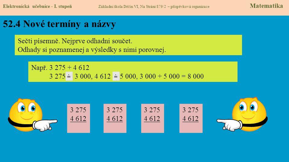 52.4 Nové termíny a názvy Elektronická učebnice - I.