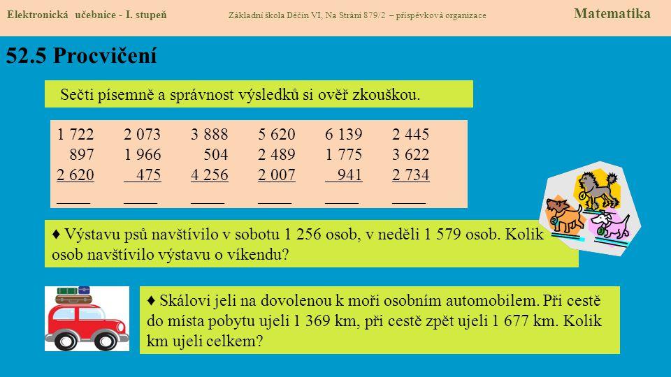 52.5 Procvičení Elektronická učebnice - I.