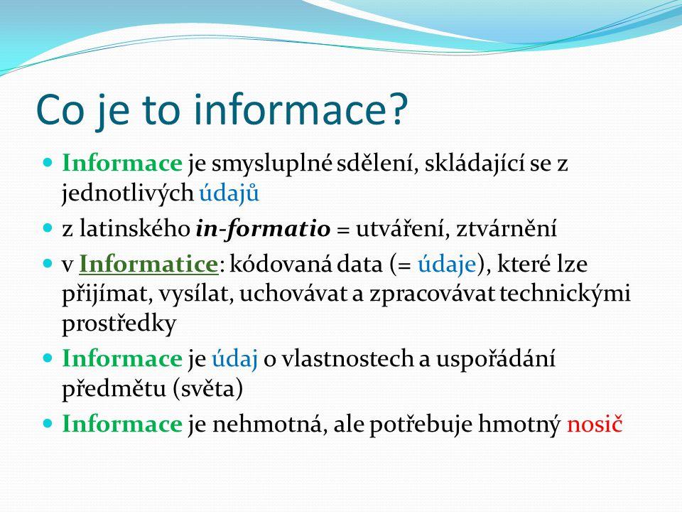 Co je to informace.