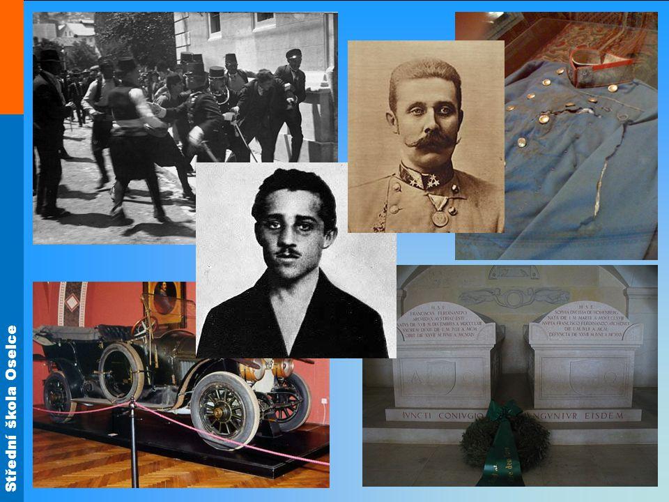 1914 Rakousko-Uhersko předložilo Srbsku ultimátum (Srbové na něj chtěli přistoupit, ale R-U chtělo vyvolat válku) 28.