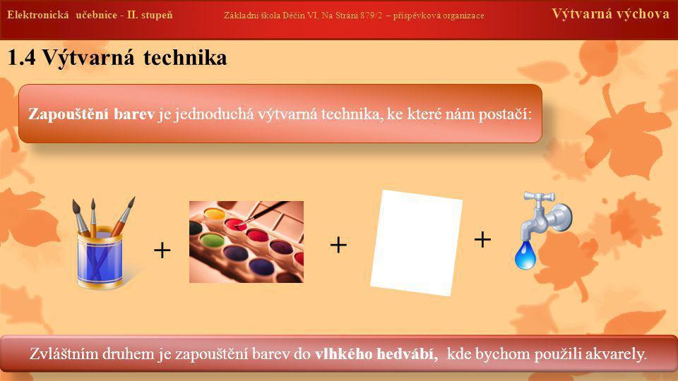 1.4 Výtvarná technika Elektronická učebnice - II. stupeň Základní škola Děčín VI, Na Stráni 879/2 – příspěvková organizace Výtvarná výchova Zapouštění