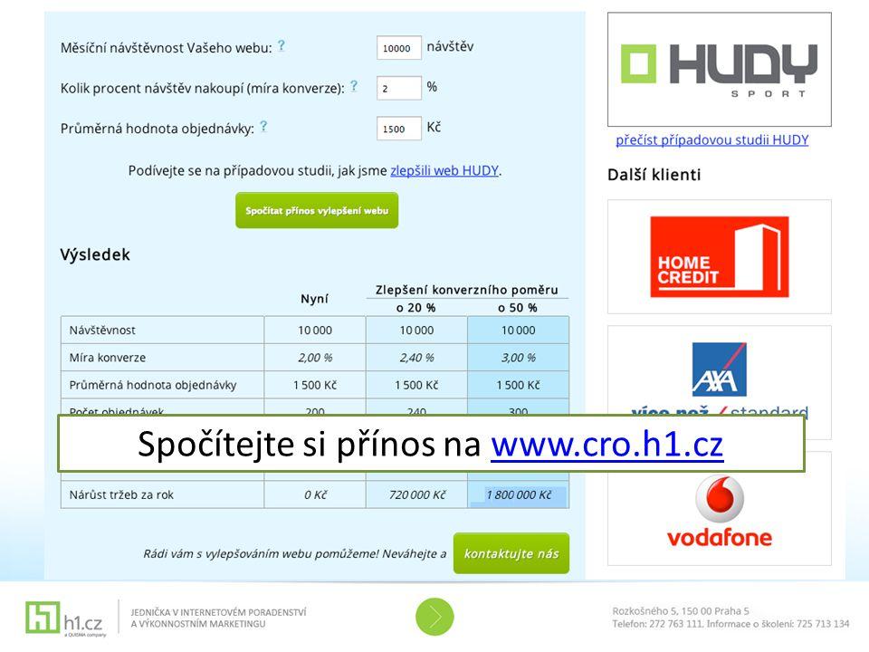 Spočítejte si přínos na www.cro.h1.czwww.cro.h1.cz