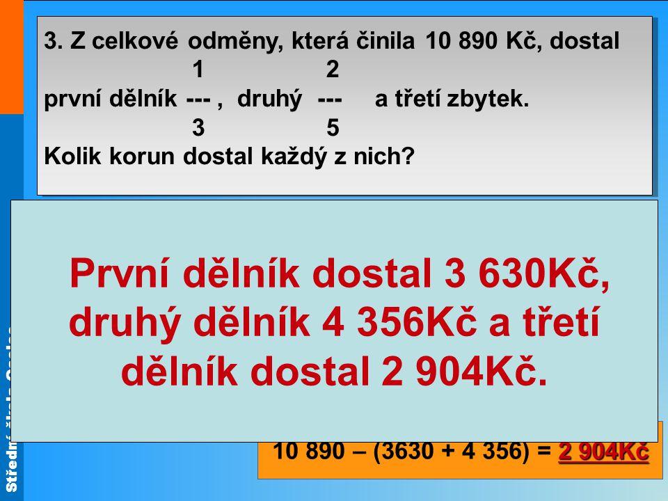 Střední škola Oselce Příklad: 3.Farmář pěstuje obilniny ve výměře 84 ha.