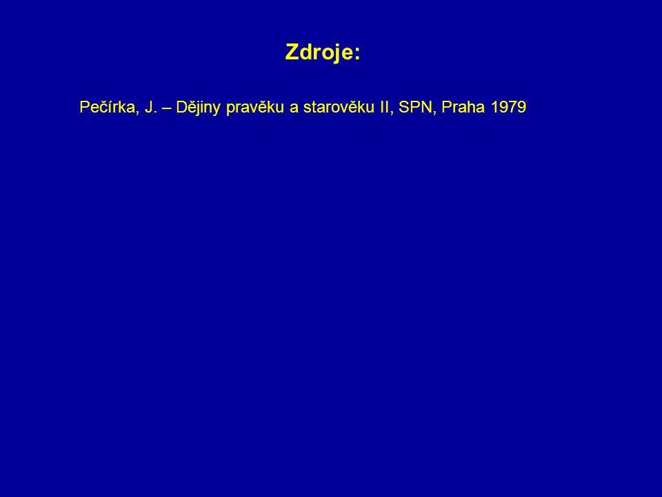 Pečírka, J. – Dějiny pravěku a starověku II, SPN, Praha 1979 Zdroje: