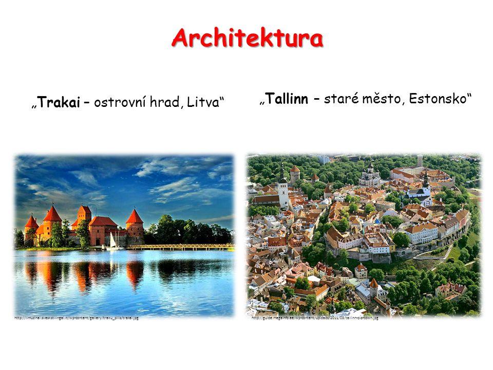 "Architektura ""Tallinn – staré město, Estonsko"" ""Trakai – ostrovní hrad, Litva"" http://limuzinai.sveskstilingai.lt/wp-content/gallery/traku_pilis/traka"
