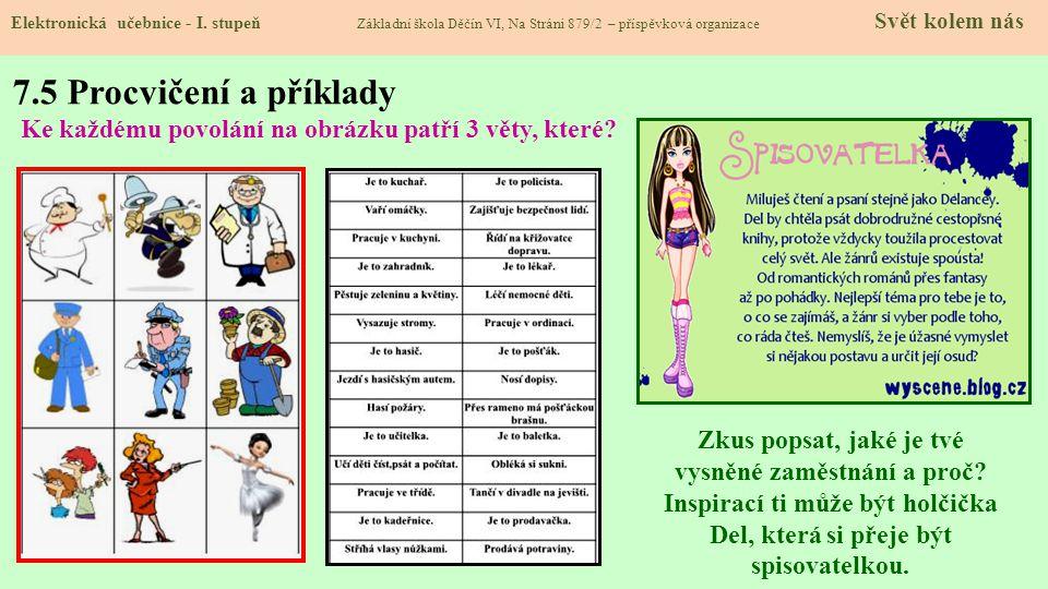7.5 Procvičení a příklady Elektronická učebnice - I.