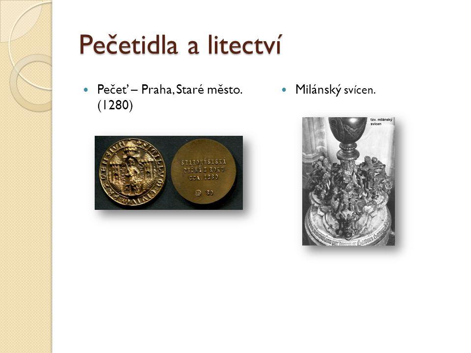 Pečetidla a litectví Pečeť – Praha, Staré město. (1280) Milánský svícen.