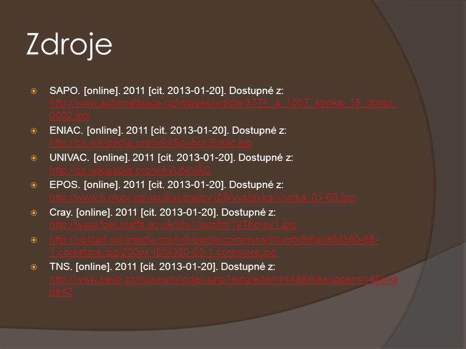 Zdroje  SAPO. [online]. 2011 [cit. 2013-01-20]. Dostupné z: http://www.automatizace.cz/images/article/3774_a_1007_strnka_15_obraz_ 0002.jpg http://ww