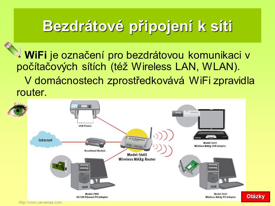 Bezdrátové připojení k síti WiFi je označení pro bezdrátovou komunikaci v počítačových sítích (též Wireless LAN, WLAN). V domácnostech zprostředkovává