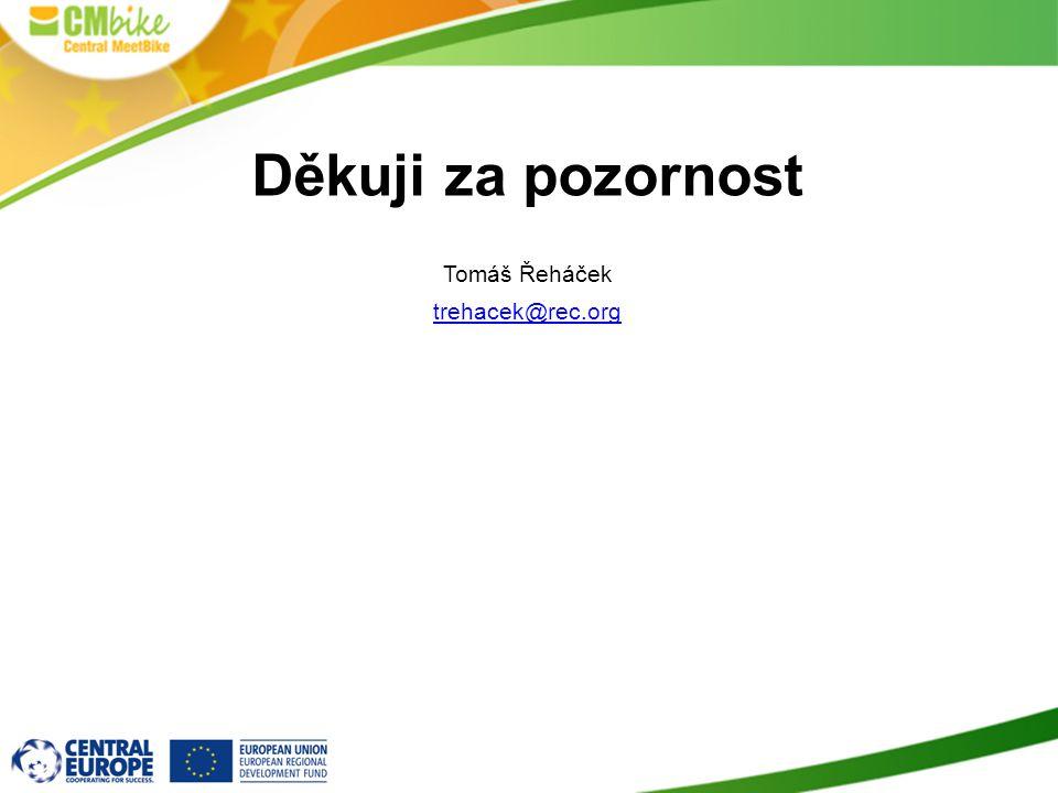 Děkuji za pozornost Tomáš Řeháček trehacek@rec.org