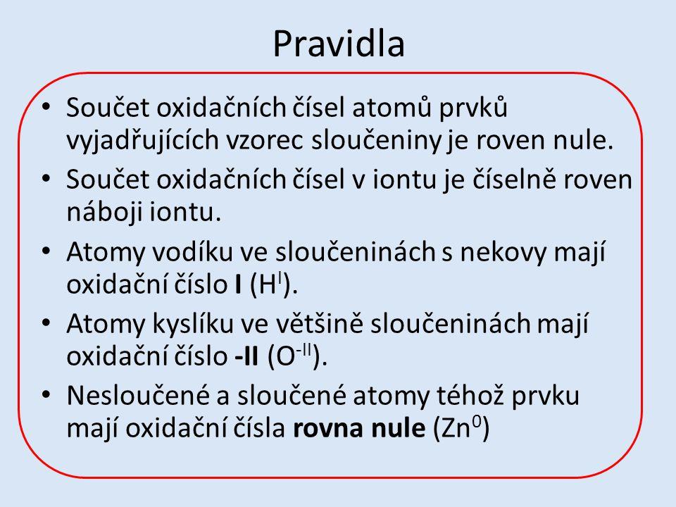 Pravidla Z oxidačních čísel vychází české názvosloví anorganických sloučenin.