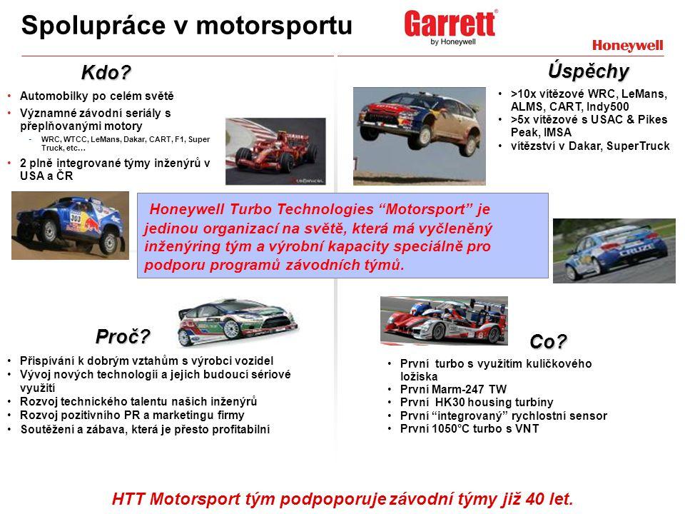 10 Spolupráce v motorsportu Automobilky po celém světě Významné závodní seriály s přeplňovanými motory - WRC, WTCC, LeMans, Dakar, CART, F1, Super Tru
