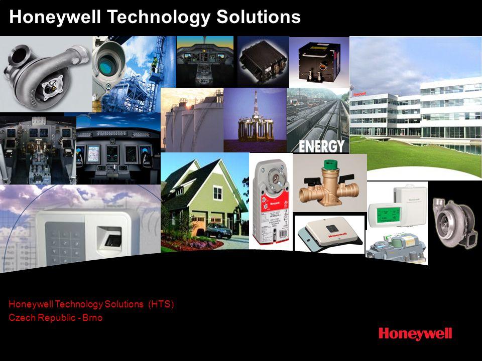 6 Honeywell Technology Solutions (HTS) – Vývojové centrum Brno Technologie a produkty umožňující úspory energie, snížení emisí a bezpečnost Automatizace a řízení Vývoj a testování řídících systémů, ventilů a řídících jednotek do plynových kotlů, ventilů pro teplou a studenou vodu, tlakových a teplotních senzorů, pohonných jednotek klimatizací a termostatů i příslušenství pro zařízení kvality vzduchu.