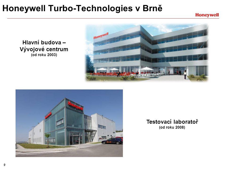 9 Testovací laboratoř (od roku 2008) Hlavní budova – Vývojové centrum (od roku 2003) Honeywell Turbo-Technologies v Brně